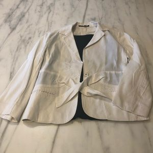 Theory Linen Summer Blazer with Front Tie - Size 6